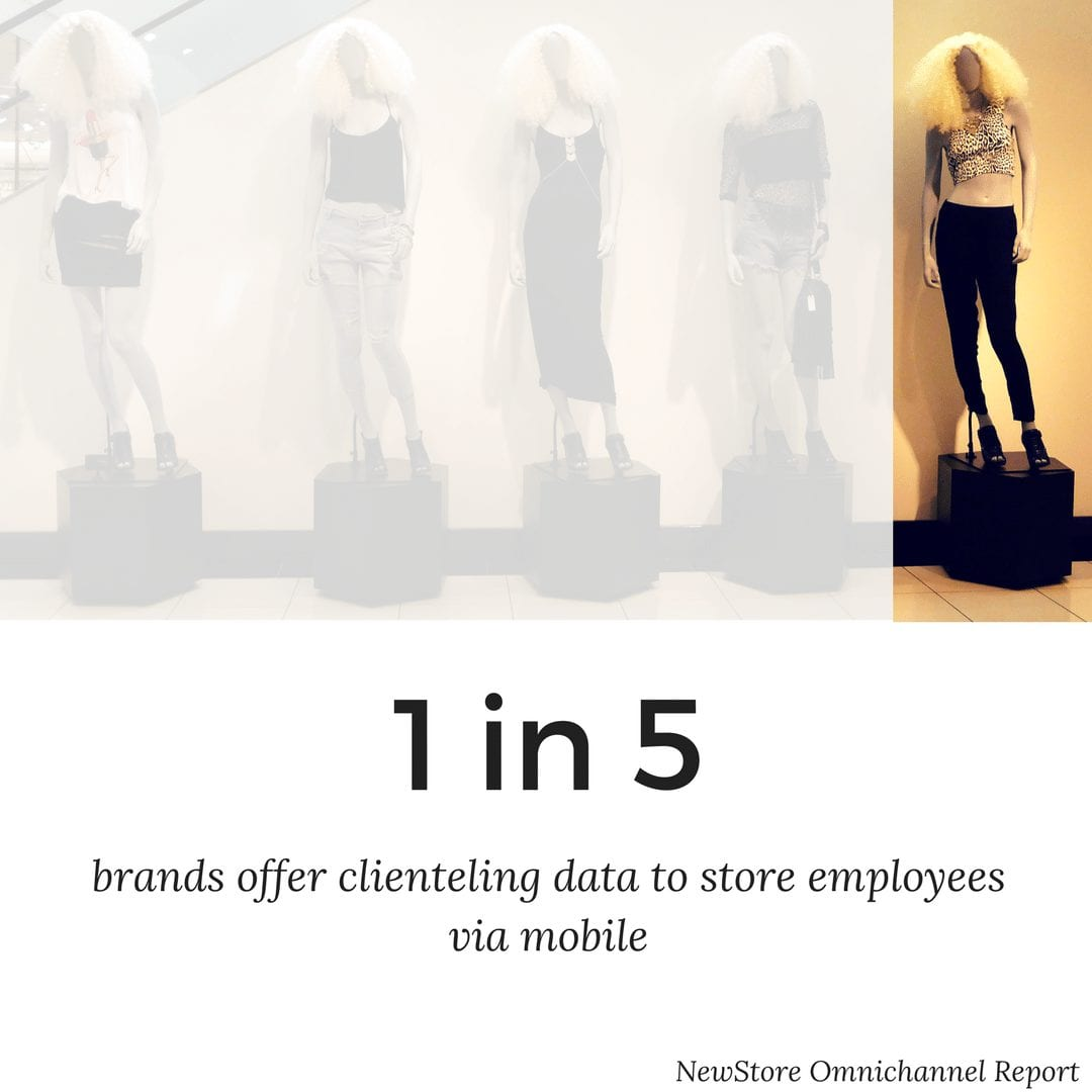 brand offering clienteling data to store employees via mobile
