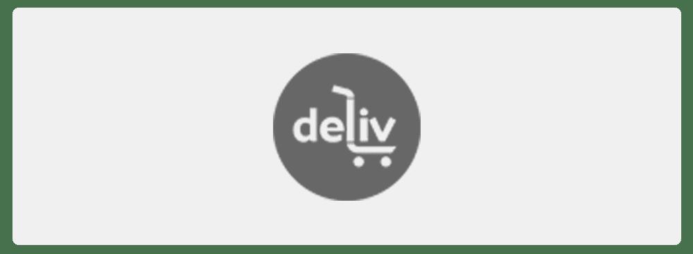 Logo Deliv black and white