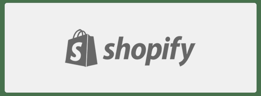 shopify logo black and white