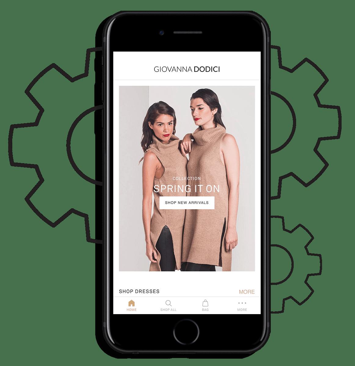 iphone showing online store app