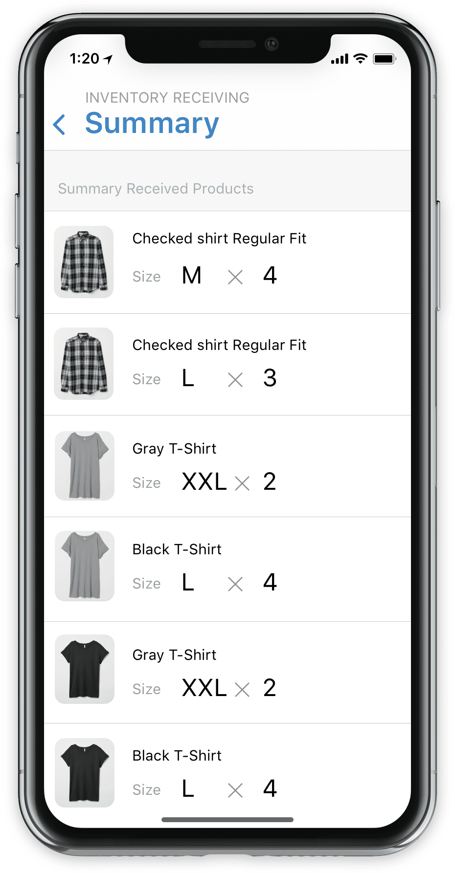 inventory app on iphone