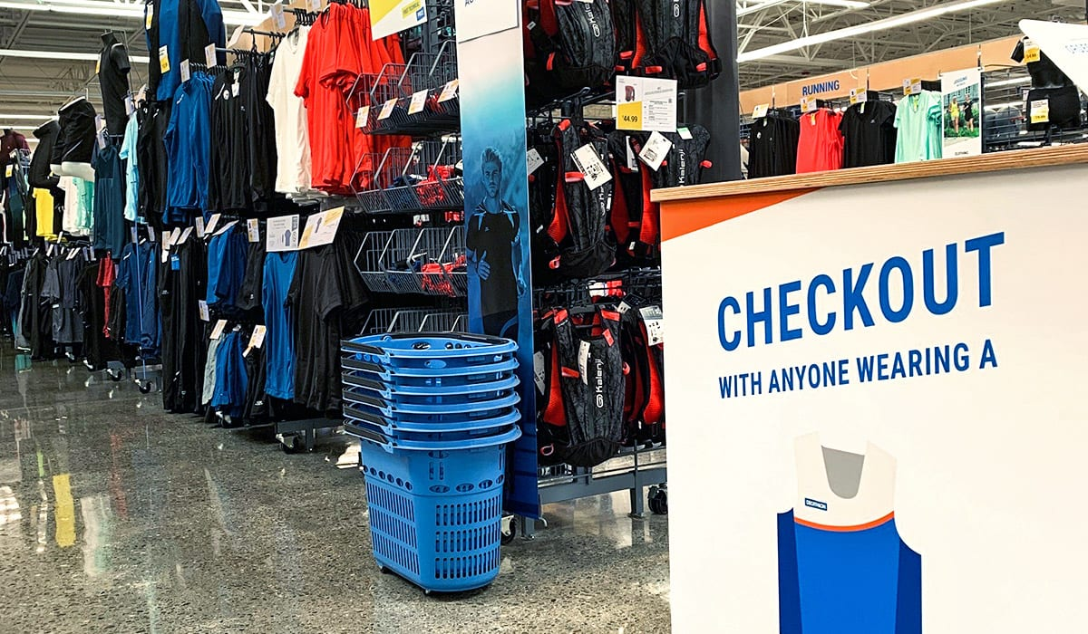 Decathlon mobile checkout